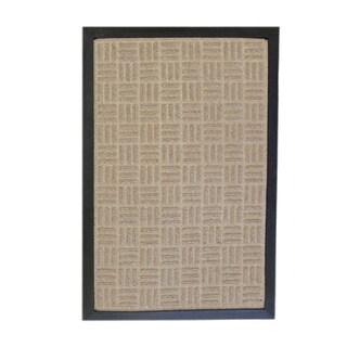 Rubber-Cal 'Wellington' Tan Indoor Doormat Carpet Matting (18 x 30-inch)