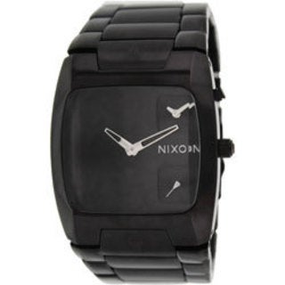 Nixon Men's A060001-00 Two-Tone Stainless-Steel Quartz Watch with Black Dial