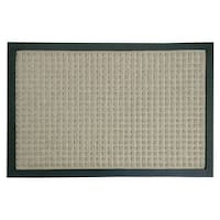Rubber-Cal 'Nottingham' Tan Rubber-backed Carpet Doormat (1'4 x 2') - 1'4 x 2'