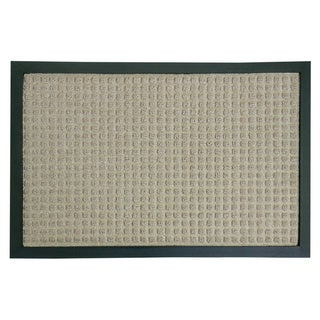 Rubber-Cal 'Nottingham' Tan Rubber-backed Carpet Doormat (1'4 x 2')