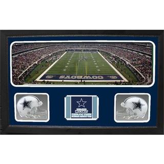 Dallas Cowboys Double Helmet Panoramic Frame