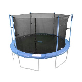 Upper Bounce Trampoline Enclosure Set for 16 ft. Round Frame Trampolines with 3/ 6 'W' shaped Legs
