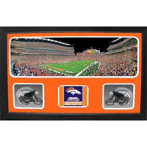Denver Broncos Double Helmet Panoramic Frame