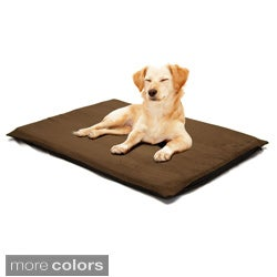 PAW 2-inch Orthopedic Foam Suede Pet Bed for Large Dogs