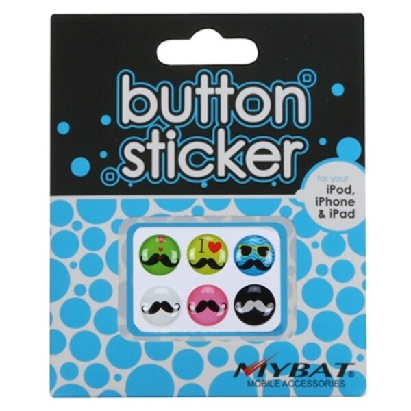 INSTEN Button Stickers Set 017 for iPhone / iPad / iPod
