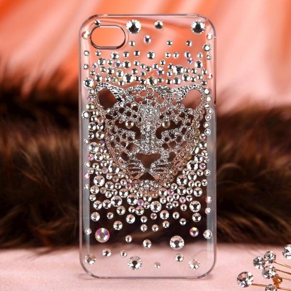 BasAcc White Leopard Diamante Case for Apple iPhone 4/ 4S