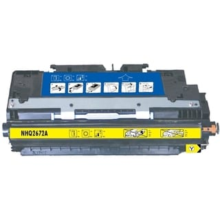 INSTEN Color Yellow Toner Cartridge for HP Q2672A