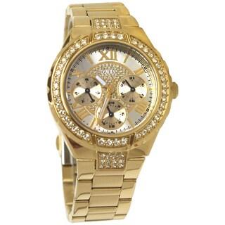 Guess Women's Gold Stainless Steel Quartz Watch