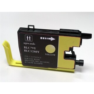 Refilled Insten Yellow Non-OEM Ink Cartridge Replacement for Brother LC79Y