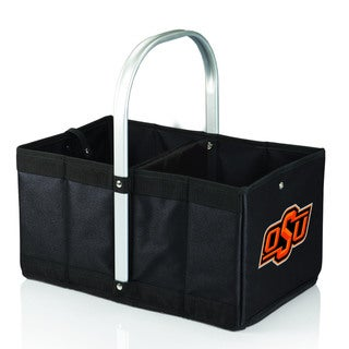 Black 'Oklahoma State Cowboys' Digital Print Urban Picnic Basket