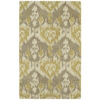 Hand-tufted Manhattan Yellow Ikat Rug - 7'6 x 9'