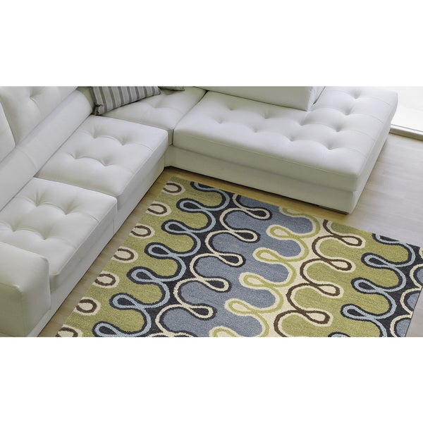 Hand-tufted Manhattan Mod Rug - 7'6 x 9'