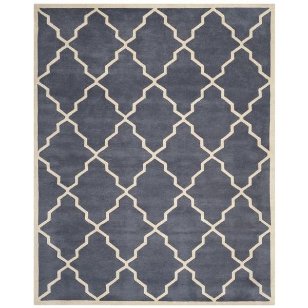 Safavieh Handmade Moroccan Chatham Grey Wool Rug - 8'9 x 12'