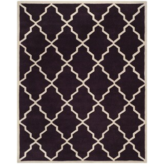 Safavieh Handmade Moroccan Chatham Dark Purple Wool Rug (8'9 x 12')