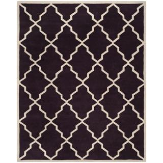 Safavieh Handmade Moroccan Chatham Dark Purple Wool Rug (8'9 x 12')