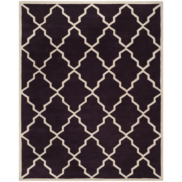 Safavieh Handmade Moroccan Chatham Dark Purple Wool Rug - 8'9 x 12'