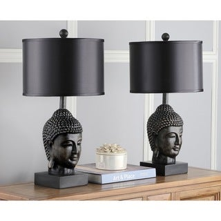 Safavieh Lighting 24.5-inch Dark Golden Buddha Table Lamps (Set of 2)