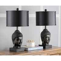 Safavieh Lighting 24.5-inch Dark Golden Buddha Table Lamp (Set of 2)
