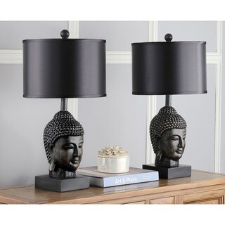 Safavieh Lighting 24.5-inch Dark Golden Buddha Table Lamp (Set of 2)