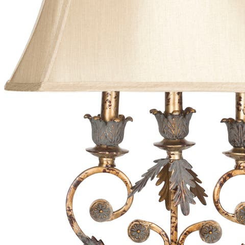 Safavieh Lighting 33-inch Lucia Gold Table Lamp (Set of 2)