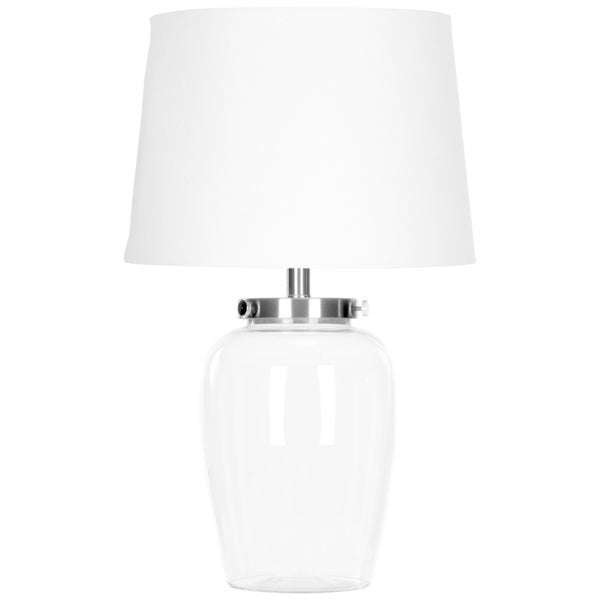 Shop Safavieh Lighting 22 5 Inch Evan Clear Glass Table Lamp On