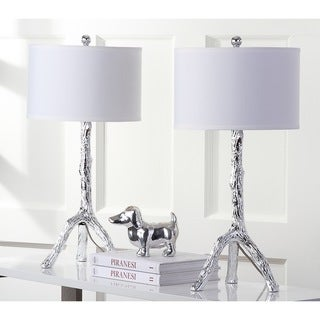 Safavieh Lighting 27.5-inch Silver Branch Table Lamp (Set of 2)