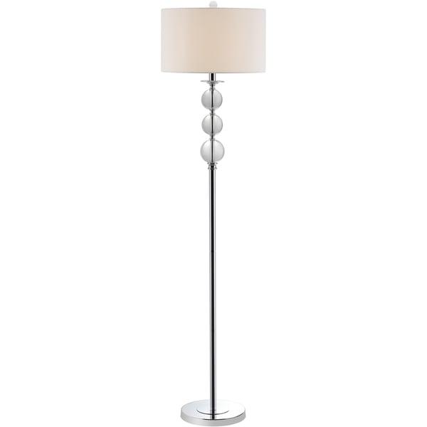 Safavieh lighting 62 inch pippa glass globe floor lamp for 10 inch reflector floor lamp globe glass