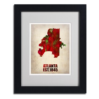Naxart 'Atlanta Watercolor Map' Framed Matted Art