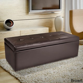 Abigail Bonded Leather Storage Ottoman by Christopher Knight Home