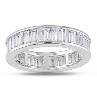 Miadora 18k Gold 3ct TDW Baguette Channel Set Diamond Eternity Band