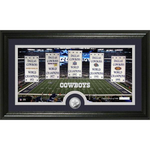 """Dallas Cowboys """"Traditions"""" Minted Coin Panoramic Photo Mint"""