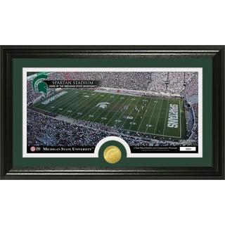 Michigan State University Stadium Bronze Coin Panoramic Photo Mint