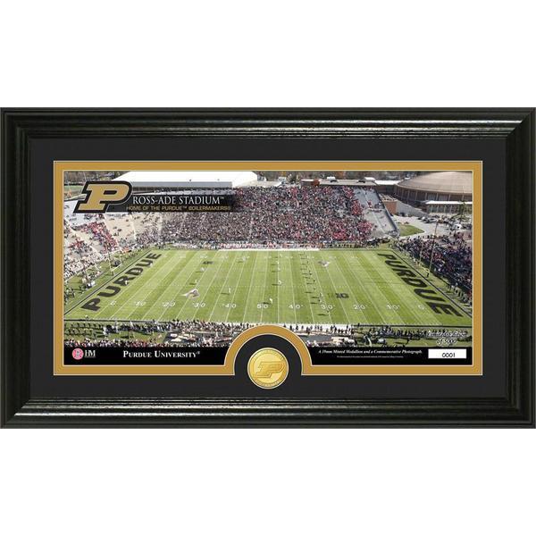 Purdue University Stadium Bronze Coin Panoramic Photo Mint