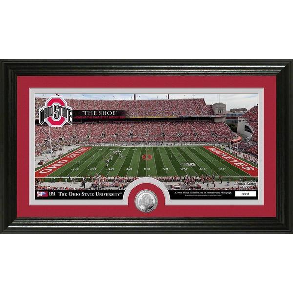 Ohio State University Stadium Minted Coin Panoramic Photo Mint