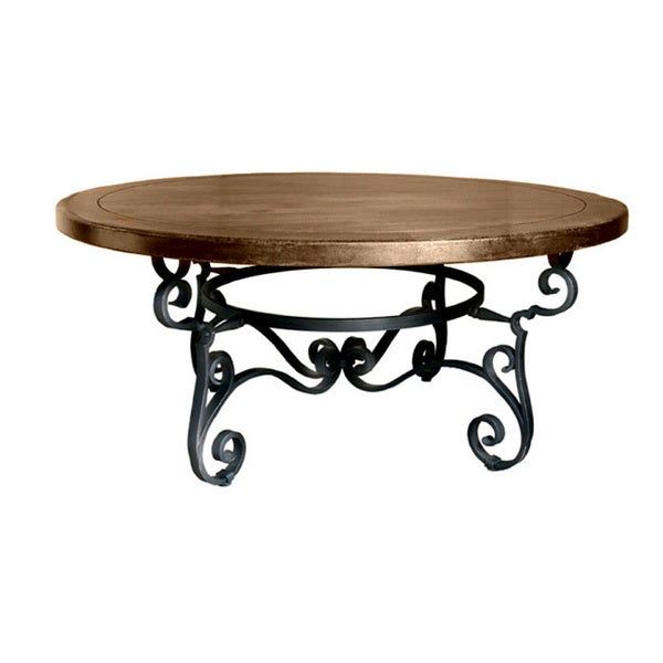 Santa Fe 39 Wrought Iron Round Dining Table Free Shipping Today