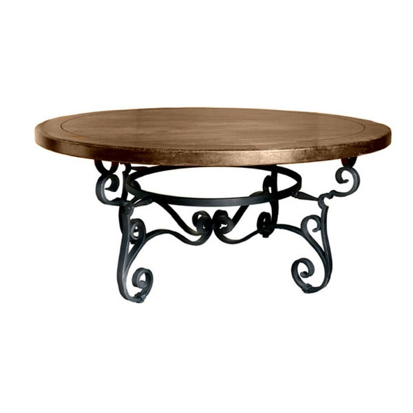Santa Fe Wrought Iron Round Dining Table - Free Shipping Today ...