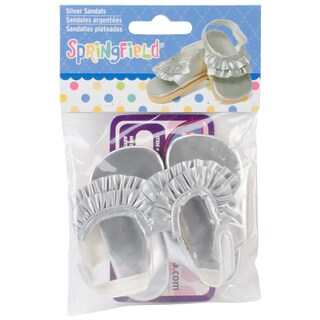 Springfield Collection Silver Ruffled Fabric Flats