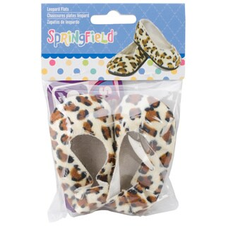 Springfield Collection Leopard Fabric Ballet Flats