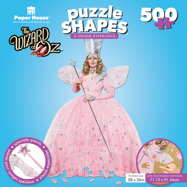"Jigsaw Shaped Puzzle 500 Pieces 24""x31"" The Wizard of Oz Glinda"