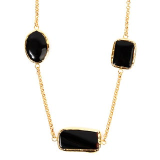 ELYA Goldplated Black Onyx Necklace