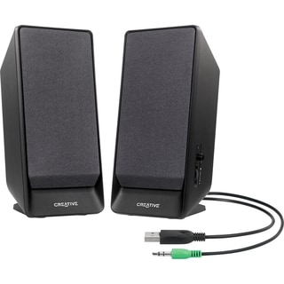 Creative SBS Series A50 2.0 Speaker System - 0.8 W RMS - Desktop - Bl