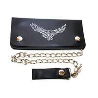 Hollywood Tag Soaring Eagle Leather Bi-fold Chain Wallet