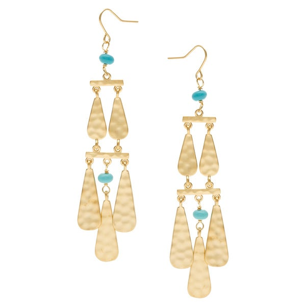 Ralph Lauren Dangle Turquoise Earrings