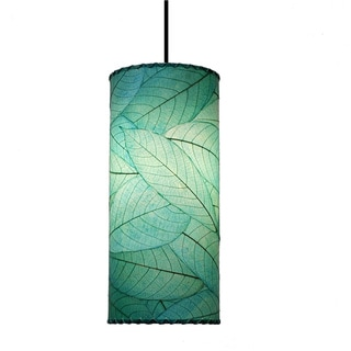 Eangee Sea Blue Cocoa Leaf Cylinder Pendant