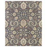 Christopher Kashan Charcoal Hand-tufted Rug - 10' x 14'