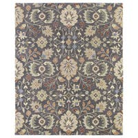 Christopher Kashan Charcoal Hand-tufted Rug (8'0 x 10'0) - 8' x 10'