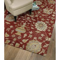 Christopher Kashan Red Hand-tufted Rug - 10' x 14'