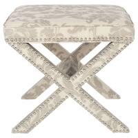 Safavieh Palmer X-bench Nailhead Taupe/ Beige Ottoman