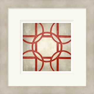 Chariklia Zarris 'Symmetry' Limited Edition Red Giclee Print