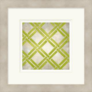 Chariklia Zarris 'Symmetry' Limited Edition Light Green Giclee Print
